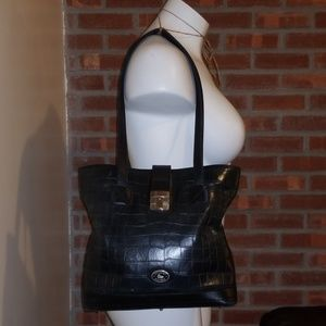 Vintage Dooney & Bourke Crocodile Handbag